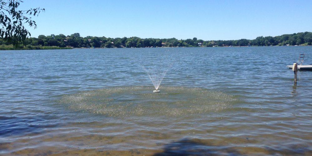 Fountain on lake 5