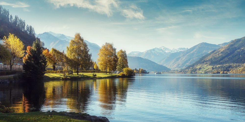Impressively,Beautiful,Fairy-tale,Mountain,Lake,In,Austrian,Alps.,Breathtaking,Scene.
