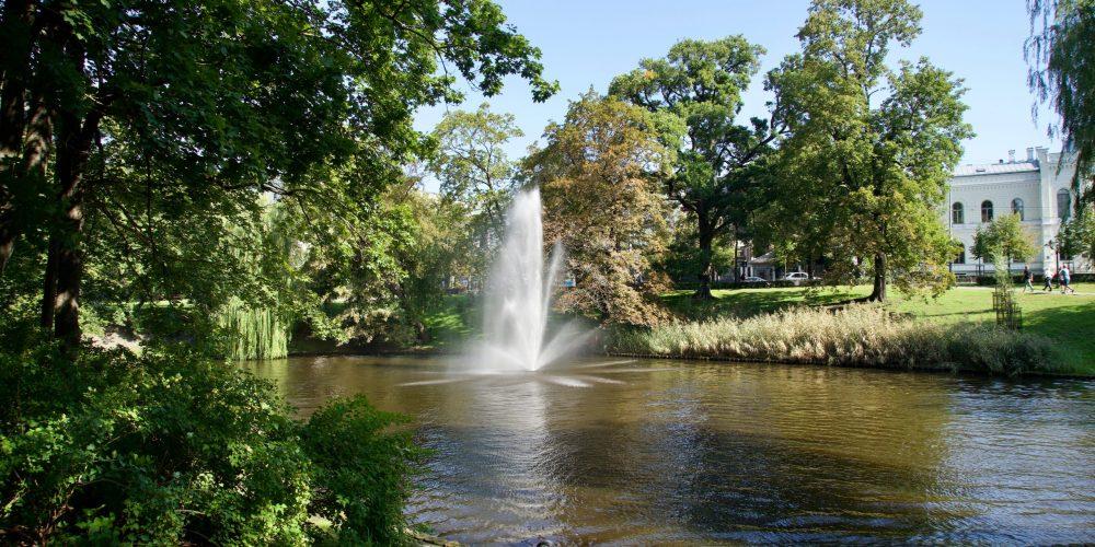 A,Beautiful,Park,In,The,City,Of,Riga,,Latvia