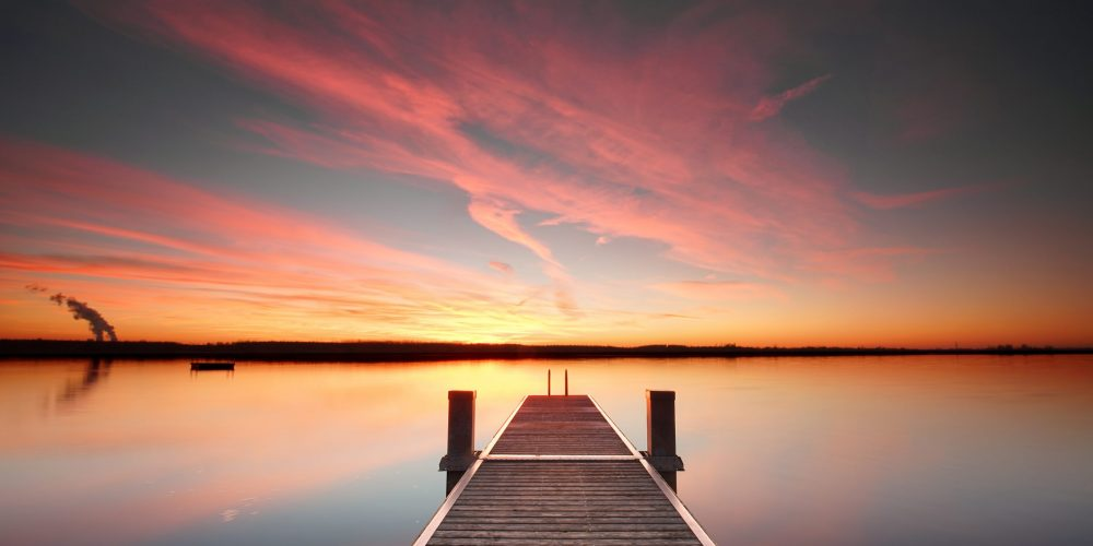 Perspective,View,Of,A,Wooden,Pier,On,The,Pond,At